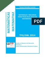 MATERIALES Y RECURSOS DIDÁCTICOS EN EL AULA DE MATEMÁTICAS
