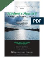 Connecticut College Schubert Mass in G Program