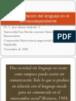 La interpretación del lenguaje en el farmacodependiente by José Alonso Andrade Salazar