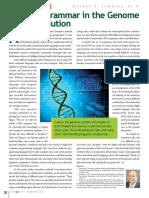 Complex Grammar in the Genome