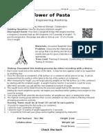 Engineering Anatomy Tower of Pasta