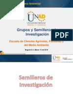 Grupos y Semilleros de Investigación Ambiental