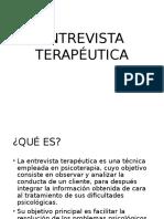 ENTREVISTA TERAPÉUTICA