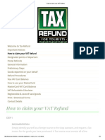 How to Claim Your VAT Refund