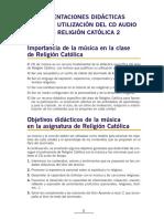 IMPORTANCIA DE LA MUSICA EN LA CLASE DE RELIGION