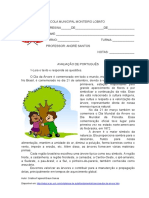 Avaliação de Portugues Outubro