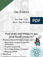 Gas Analysis Experimental Technique