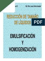 Emulsificacion y Homogenizacion
