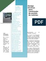 Web Design Revela Técnicas Para Construção de Portais de Notícias