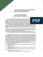Villarroel Villarroel Determinacion Ley Aplicable a Los Contratos