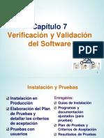 Capítulo 7 (2P) - Verificación y Validación del Software