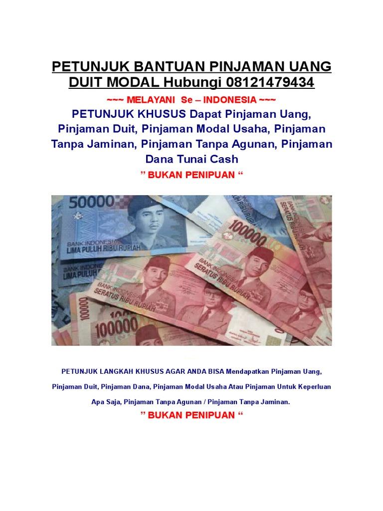 Pinjam Uang Pinjaman Modal Dana Duit
