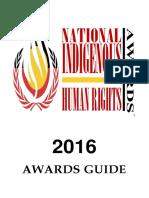 2016 NIHRA - Awards Guidelines