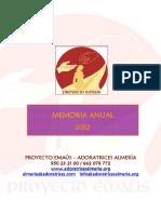 Memoria 2012 Proyecto Emaus