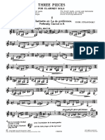Stravinsky - 3 Pieces for Clarinet Solo (2)
