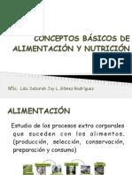 CONCEPTOS BÁSICOS DE ALIMENTACIÓN Y NUTRICIÓN