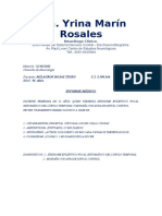 Informe Medico (Milagros Rojas)