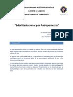 Práctica IV. Fetometría