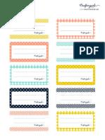 etiquetas Para Tus Cuadernos