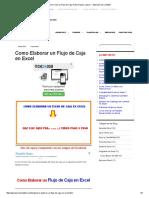 Como Crear Un Flujo de Caja en Excel Paso a Paso — Aplica Excel Contable