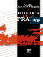 Filosofia de La Praxis de Adolfo sanchez vasquez