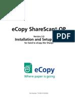 eCopy ShareScan OP Installation+Setup Guide For Sharp