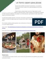 Cómo Construir Un Horno Casero Para Pizzas