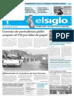 Edicion Impresa El Siglo 01-04-2016