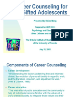 career counseling for gifted