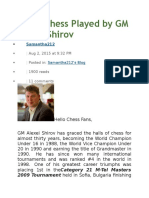 Sharp Chess Played by GM Alexei Shirov