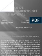 Proceso de Endulzamiento Del Gas Natural