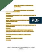 Diseño e Implementación Del Programa de Capacitación en Seguridad y Salud en El Trabajo