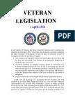 Veteran Legislation 160401