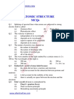 5 Chapter Atomic Structure Mcqs
