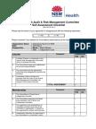Cek List Audit Risk Management