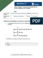 Actividad Integradora, Etapa 2. Grupos Funcionales de Los Productos Orgánicos en Tu Hogar