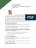Abdominal Aortic Aneurysm Texto 4 Para Traduccic3b3n Mc3a9dica
