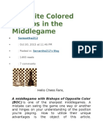 Opposite Colored Bishops in the Middlegame