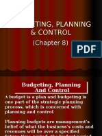 Chapter 8 - Budgeting, Planning Control