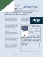 Juillet 2010 - Les Tests Et l'Informatique
