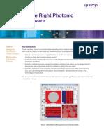 Choosing Right Photonic Design Software