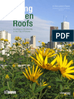 Using Green Roofs to Enhance Biodiversity in the City of Toronto (2010)