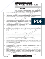 JEEMain Model Paper With Key 16