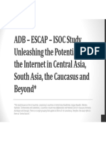 ADB – ESCAP – ISOC Study Unleashing the Potential of the Internet in Central Asia, South Asia, the Caucasus and Beyond