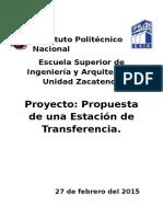 Propuesta de Estaciones de Tranferencia
