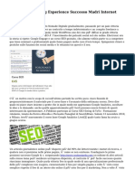 Seo Web Marketing Experience Successo Madri Internet Marketing