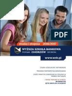 Informator 2016 - studia I stopnia - Wyższa Szkoła Bankowa w Chorzowie.pdf