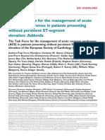 ESC Acute Coronary Syndromes (ACS) NSTE 2011 (Appendix)