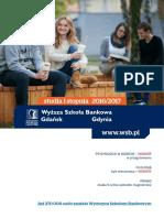 Informator 2016 - studia I stopnia - Wyższa Szkoła Bankowa w Gdańsku.pdf