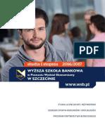 Informator 2016 - studia I stopnia - Wyższa Szkoła Bankowa w Szczecinie.pdf